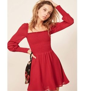 Red Reformation Gretel Mini Dress